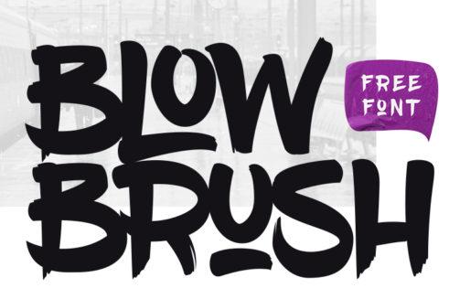fuentes pincel blow brush enfoquegaussiano