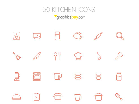 Set de iconos de cocina kitchen icon set