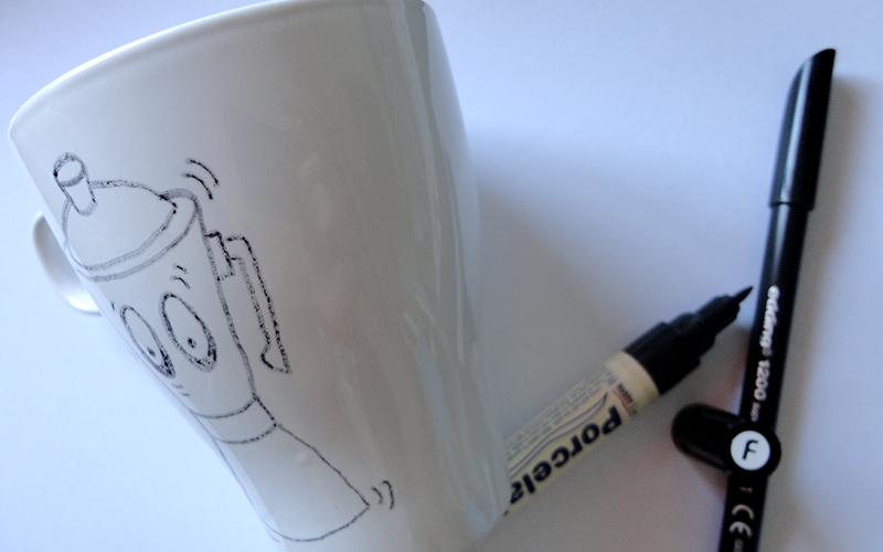 1. pintando una taza