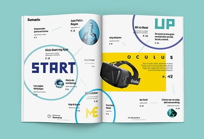Revistas con estrella Behance StartMeUp Relaja el Coco