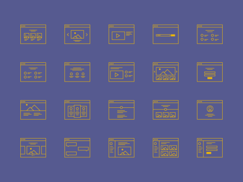 Sets de iconos wireframe