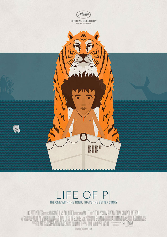 Life of Pi. Cartel de Uve Portillo.