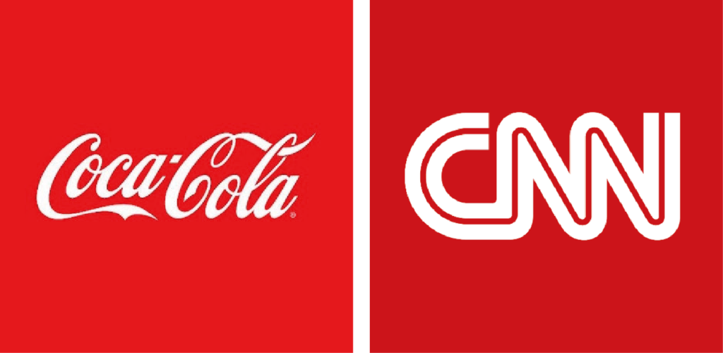 Logos de color rojo 02. Coca-cola y CNN