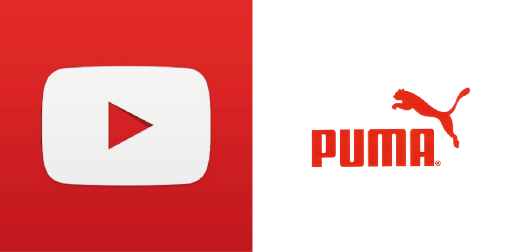 Logos de color rojo 01. Youtube y Puma