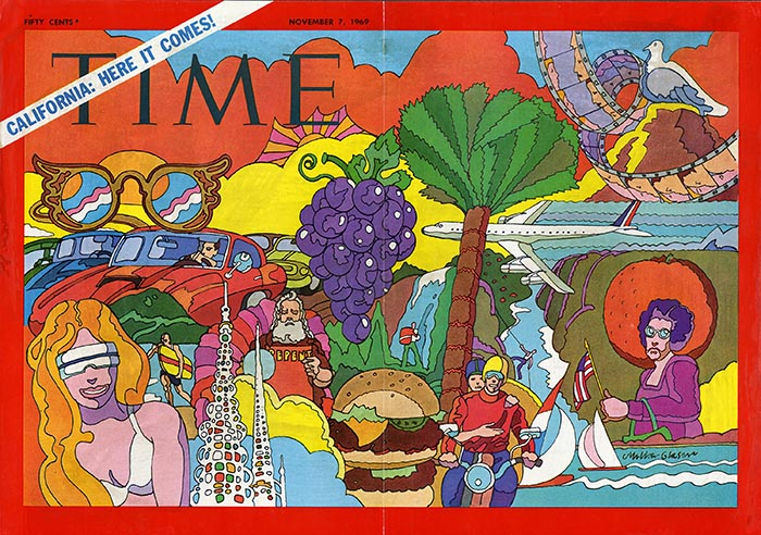 Milton Glaser Time covers