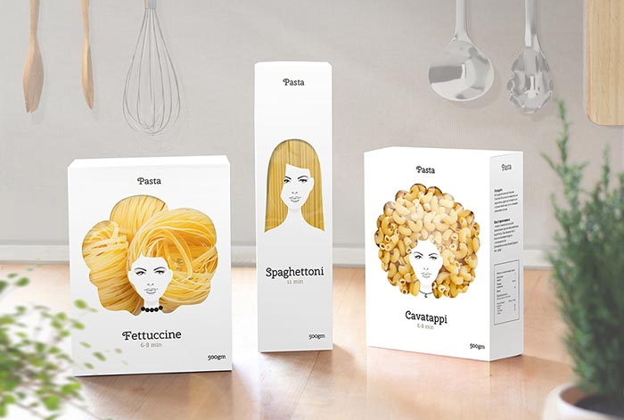 Packaging creativo Nikita pasta