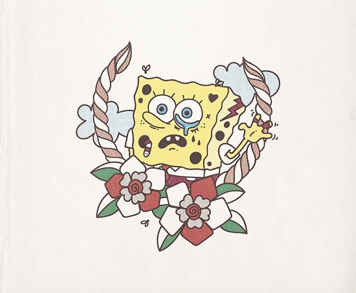 Bob Sponge Tattoo versiones bob esponja ilustradores