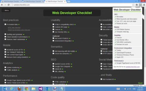 extensiones para tu navegador para chrome utilidades para web herramientas checklist