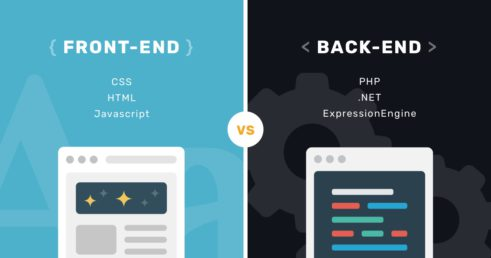 diseño front-end vs programación back-end